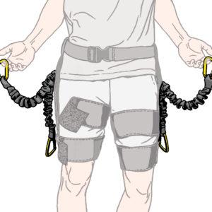 Illustration of lift straps